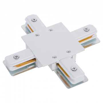 X-образный соединитель питания для треков Nowodvorski Profile 8836, белый, пластик