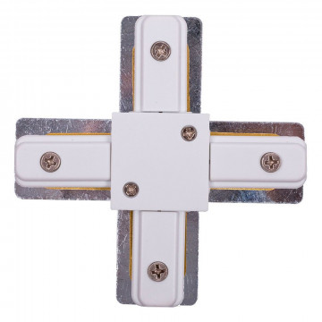 X-образный соединитель питания для треков Nowodvorski Profile 9190, белый, металл