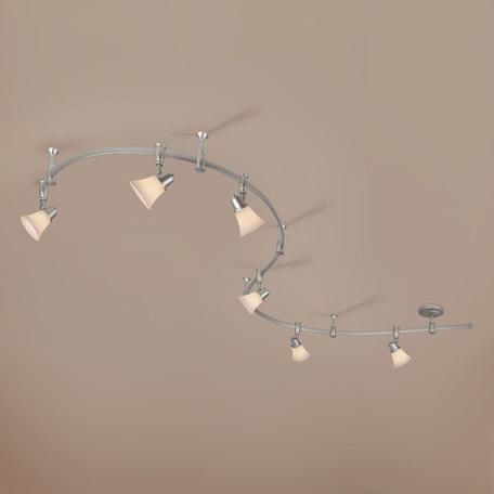 Гибкая система освещения Citilux Классик CL560261, 6xE14x60W, серебро, белый, металл, стекло