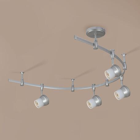 Гибкая система освещения Citilux Акцент CL561141, 4xGU10x50W, серебро, металл, металл со стеклом