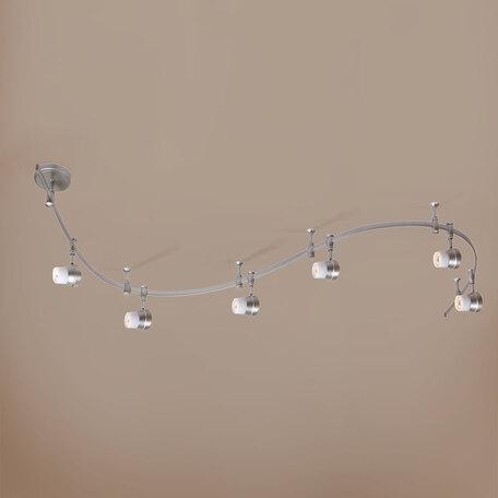 Гибкая система освещения Citilux Акцент CL561161, 6xGU10x50W, серебро, белый, металл, стекло