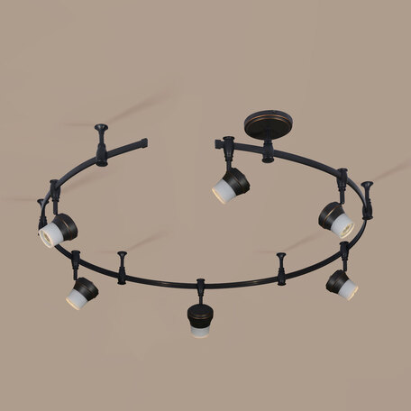 Гибкая система освещения Citilux Акцент CL561165, 6xGU10x50W, венге, металл, металл со стеклом