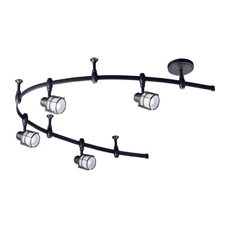 Гибкая система освещения Citilux Реймс CL563141, 4xE14x60W, венге, металл, металл со стеклом