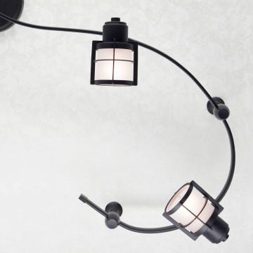 Гибкая система освещения Citilux Реймс CL563141, 4xE14x60W, венге, металл, металл со стеклом - миниатюра 4