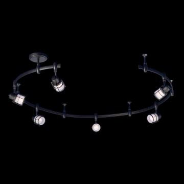 Гибкая система освещения Citilux Реймс CL563161, 6xE14x60W, венге, металл, металл со стеклом - миниатюра 2