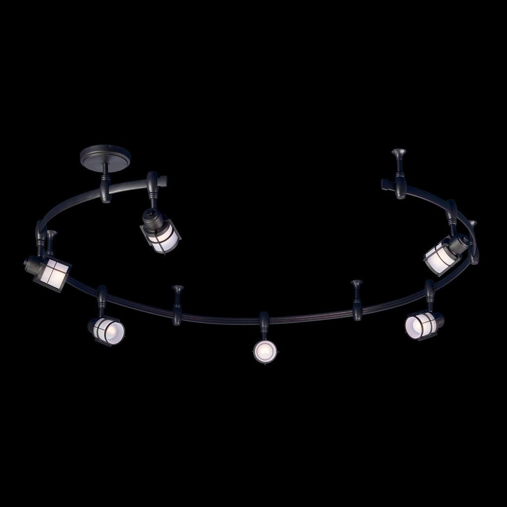 Гибкая система освещения Citilux Реймс CL563161, 6xE14x60W, венге, металл, металл со стеклом - фото 2