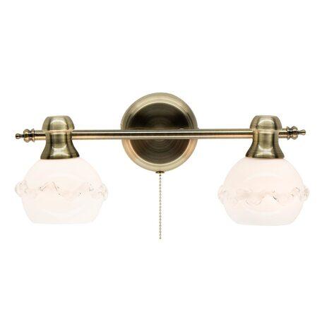 Настенный светильник с регулировкой направления света Citilux Кампана CL540521, 2xE14x60W, бронза, белый, металл, стекло - миниатюра 1