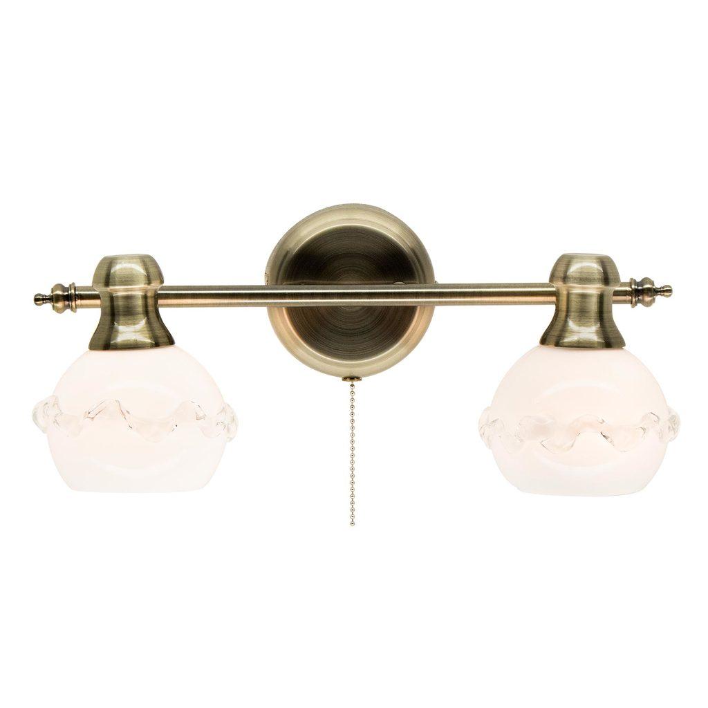 Настенный светильник с регулировкой направления света Citilux Кампана CL540521, 2xE14x60W, бронза, белый, металл, стекло - фото 1