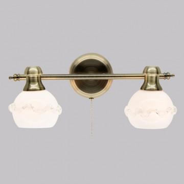 Настенный светильник с регулировкой направления света Citilux Кампана CL540521, 2xE14x60W, бронза, белый, металл, стекло - миниатюра 2