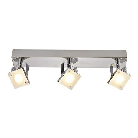 Потолочный светодиодный светильник с регулировкой направления света Citilux Кода CL551531, LED 15W 3000K, хром, белый, металл, металл со стеклом