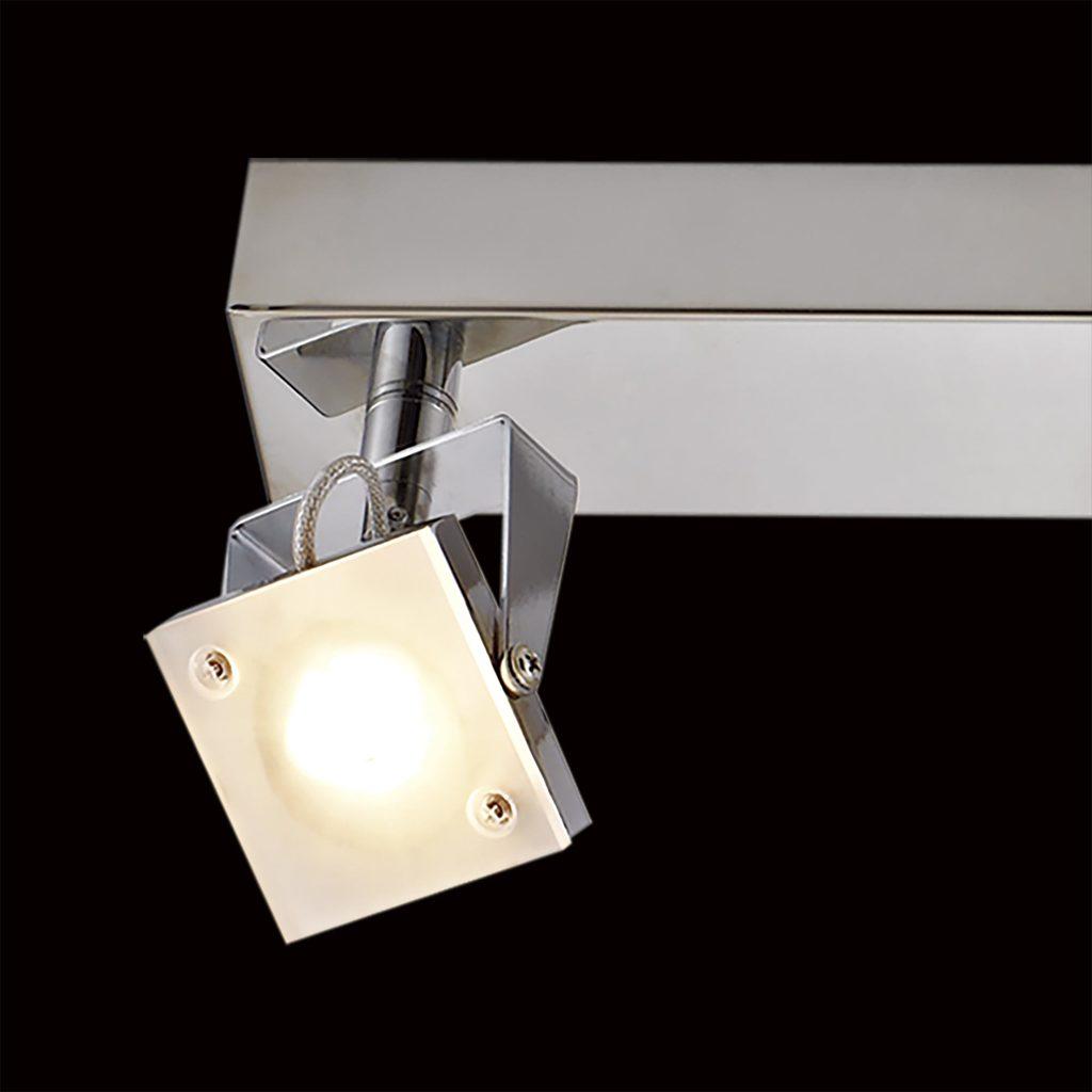 Настенный светодиодный светильник с регулировкой направления света Citilux Кода CL551531 3000K (теплый), хром, белый, металл, стекло - фото 4