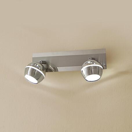 Настенный светодиодный светильник с регулировкой направления света Citilux Раймонд CL555521, LED 10W 3000K 750lm, хром, металл