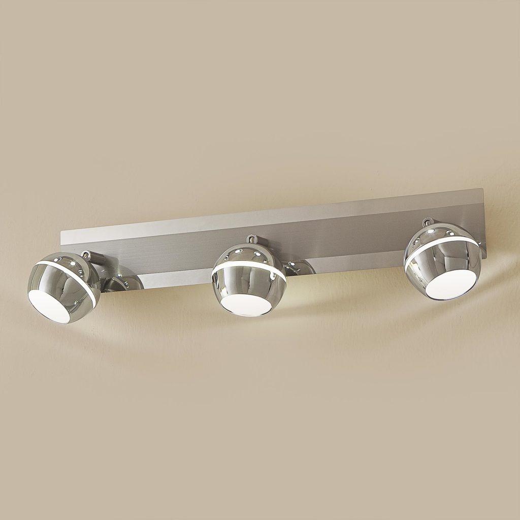 Настенный светодиодный светильник с регулировкой направления света Citilux Раймонд CL555531, LED 15W 3000K 1125lm, хром, белый, металл, стекло - фото 1