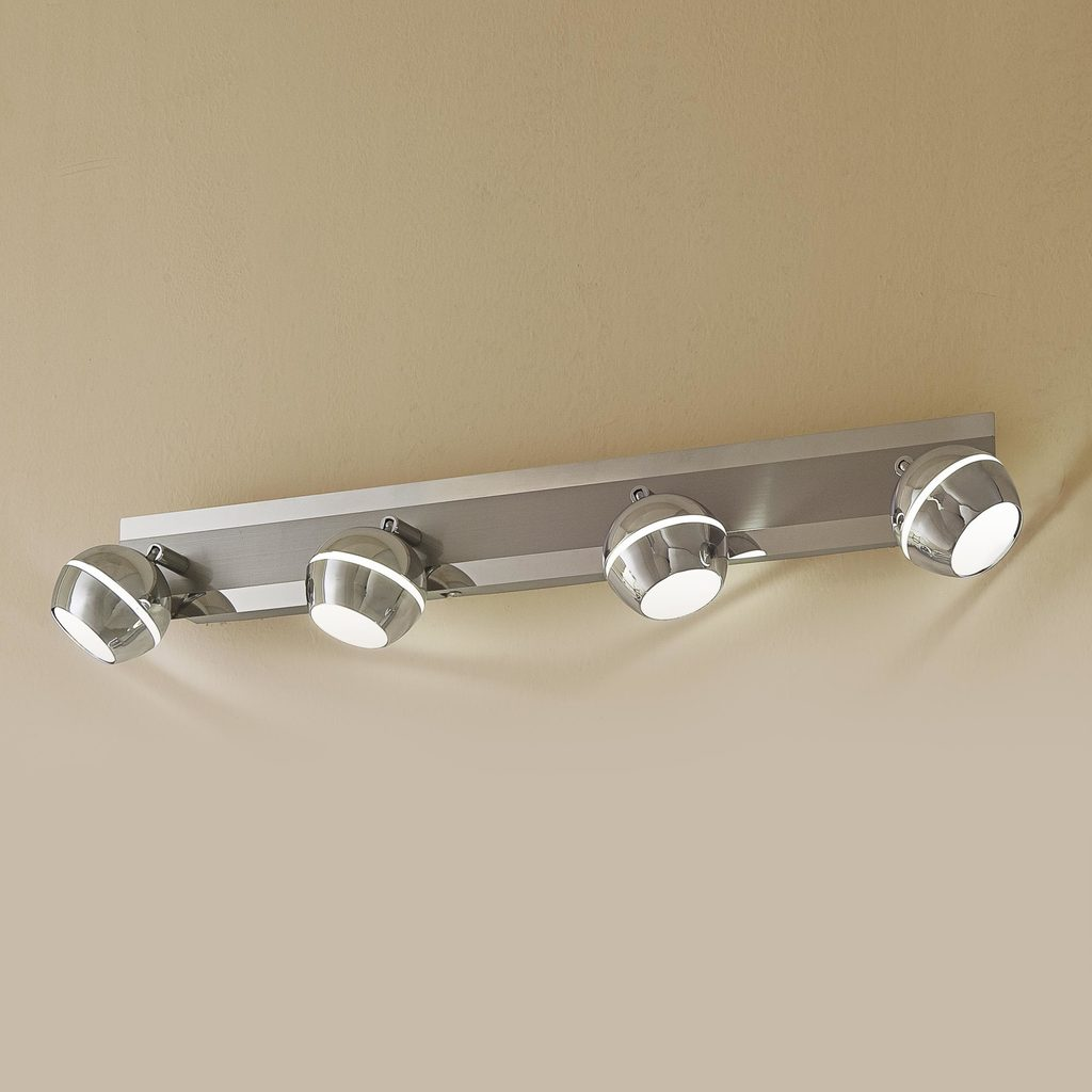 Потолочный светодиодный светильник с регулировкой направления света Citilux Раймонд CL555541, LED 20W 3000K 1500lm, хром, белый, металл, стекло - фото 1