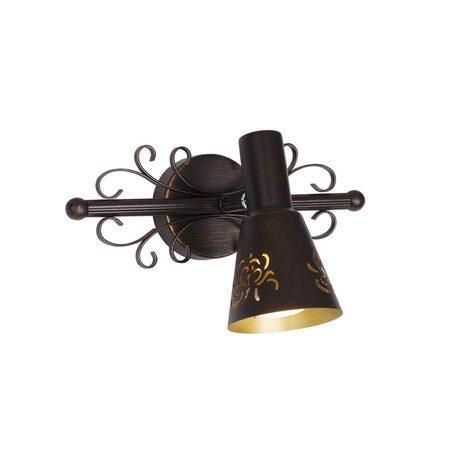 Настенный светильник с регулировкой направления света Citilux Дункан CL529511, 1xE14x60W, коричневый с золотой патиной, металл