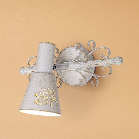 Настенный светильник с регулировкой направления света Citilux Дункан CL529512, 1xE14x60W, белый с золотой патиной, металл