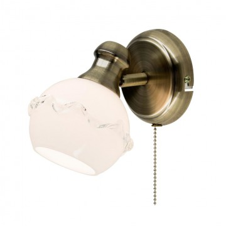 Настенный светильник с регулировкой направления света Citilux Кампана CL540511, 1xE14x60W, бронза, белый, металл, стекло