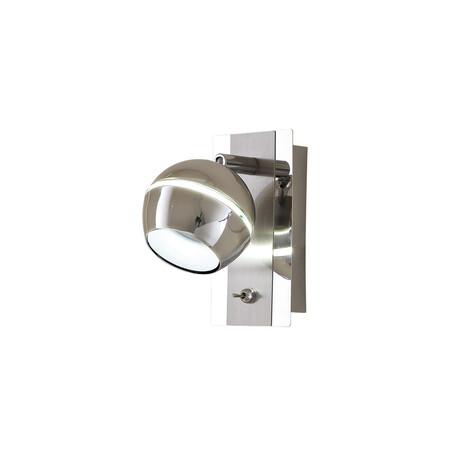 Настенный светодиодный светильник с регулировкой направления света Citilux Раймонд CL555511, LED 5W 3000K 375lm, хром, металл