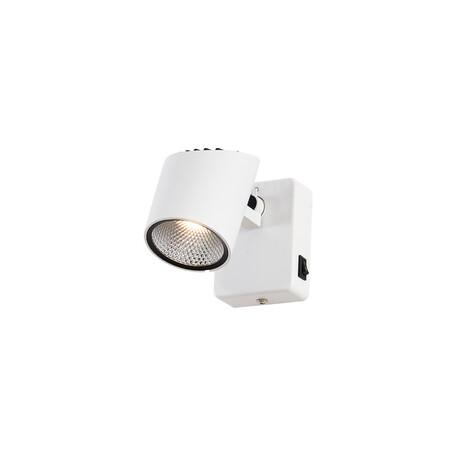 Настенный светодиодный светильник с регулировкой направления света Citilux Дубль-2 CL556610, LED 7W 3000K 560lm, белый, металл
