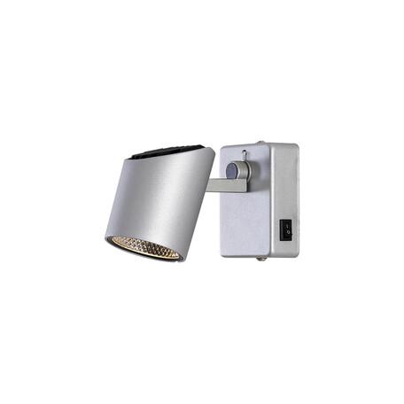 Настенный светодиодный светильник с регулировкой направления света Citilux Дубль-2 CL556611 3000K (теплый), серебро, металл