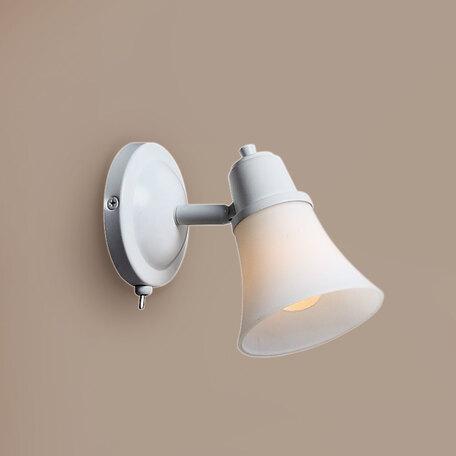 Настенный светильник с регулировкой направления света Citilux Классик CL560510, 1xE14x60W, белый, металл, стекло