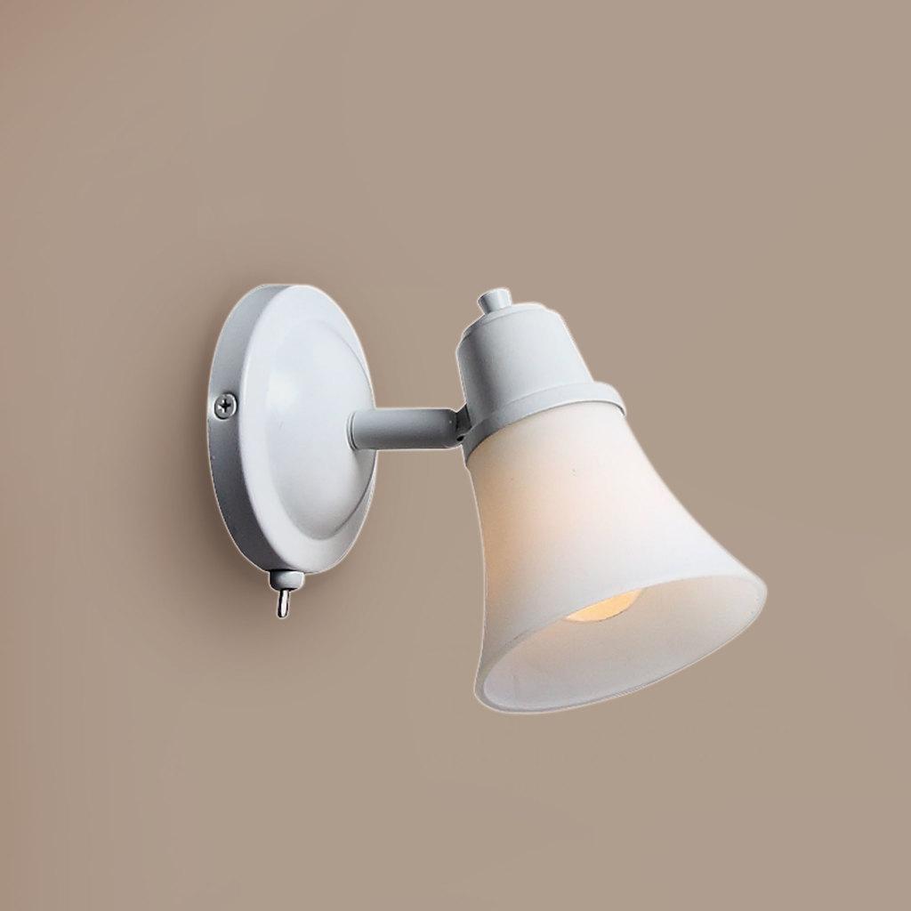 Настенный светильник с регулировкой направления света Citilux Классик CL560510, 1xE14x60W, белый, металл, стекло - фото 1