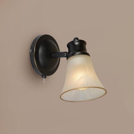 Настенный светильник с регулировкой направления света Citilux Классик CL560515, 1xE14x60W, венге, белый, металл, стекло