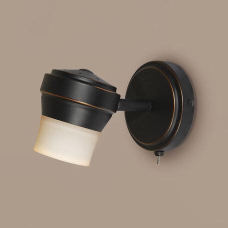 Настенный светильник с регулировкой направления света Citilux Акцент CL561515, 1xGU10x50W, венге, металл, металл со стеклом
