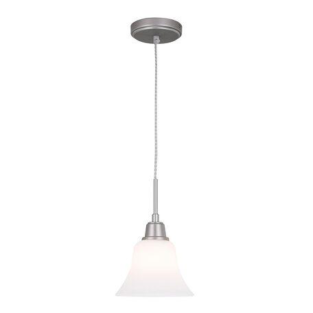Подвесной светильник Citilux Модерн CL560111, 1xE27x75W, серебро, белый, металл, стекло