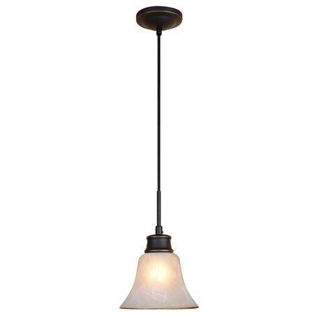 Подвесной светильник Citilux Классик CL560115, 1xE27x75W, венге, белый, металл, стекло