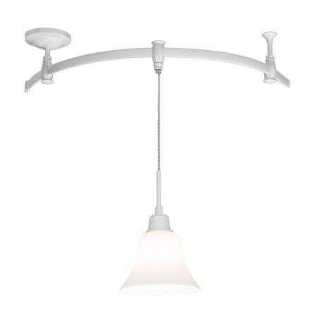 Подвесной светильник для гибкой системы Citilux Модерн CL560210, 1xE27x75W, белый, металл, стекло
