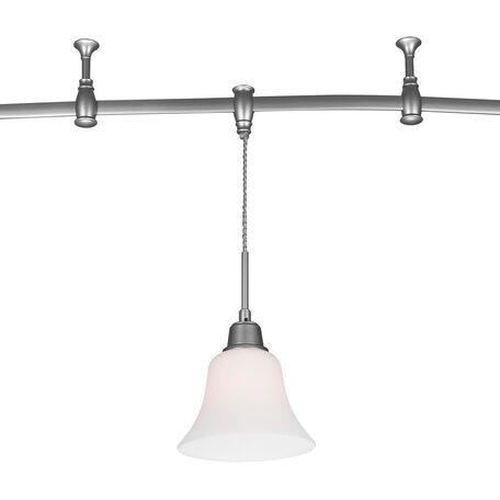 Подвесной светильник для гибкой системы Citilux Модерн CL560211, 1xE27x75W, серебро, белый, металл, стекло