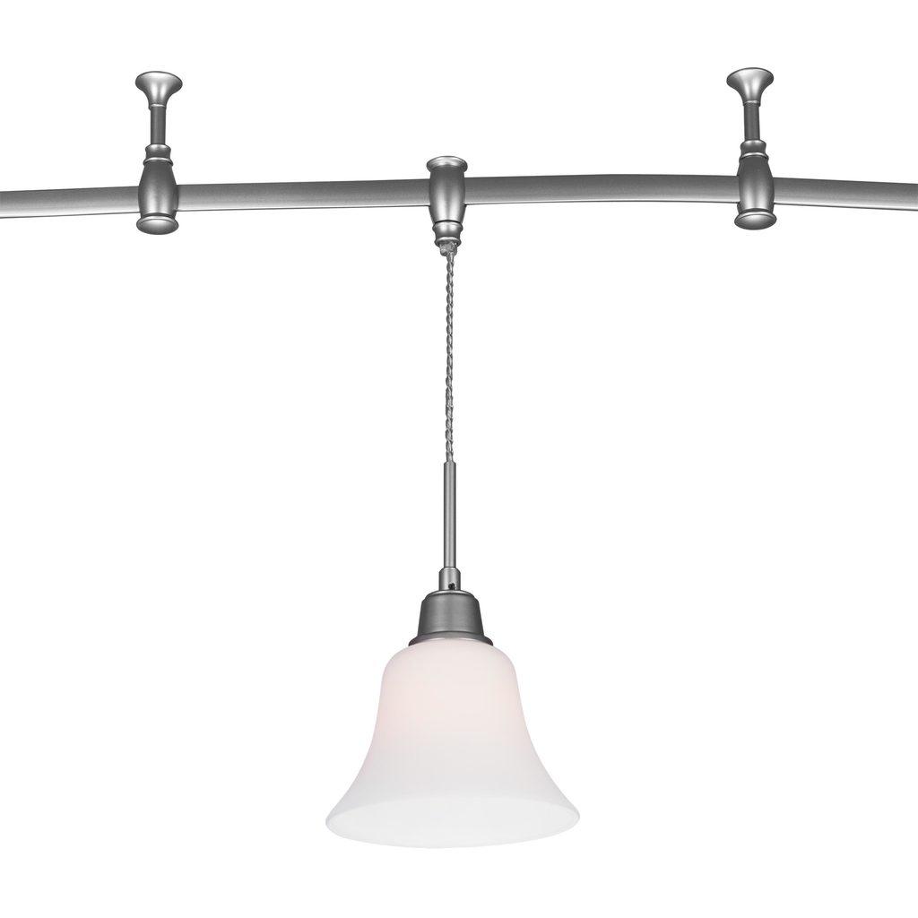 Подвесной светильник для шинной системы Citilux Модерн CL560211, 1xE27x75W, серебро, белый, металл, стекло - фото 1