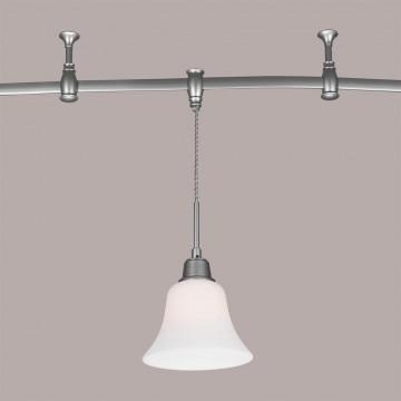 Подвесной светильник для шинной системы Citilux Модерн CL560211, 1xE27x75W, серебро, белый, металл, стекло - миниатюра 2