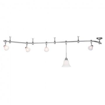 Подвесной светильник для шинной системы Citilux Модерн CL560211, 1xE27x75W, серебро, белый, металл, стекло - миниатюра 3