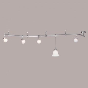 Подвесной светильник для шинной системы Citilux Модерн CL560211, 1xE27x75W, серебро, белый, металл, стекло - миниатюра 4