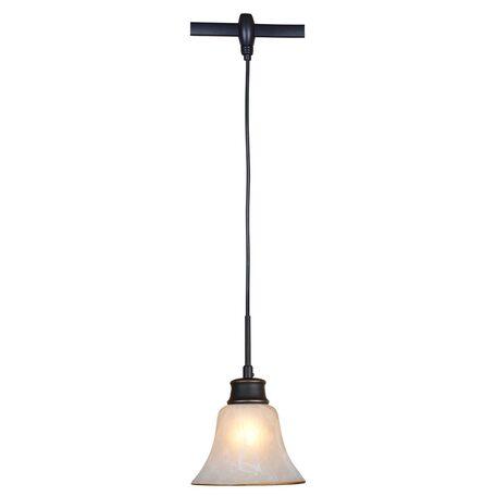 Подвесной светильник для гибкой системы Citilux Классик CL560215, 1xE27x75W, венге, белый, металл, стекло
