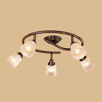 Потолочная люстра с регулировкой направления света Citilux Виндзор CL539551, 5xE14x60W, бронза, белый, металл, стекло - миниатюра 2