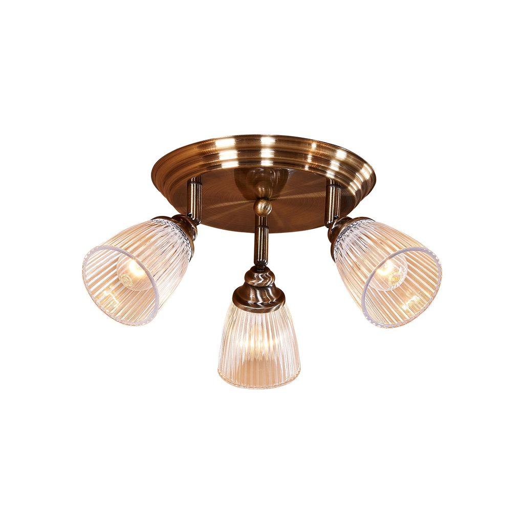 Потолочная люстра с регулировкой направления света Citilux Виндзор CL539631, 3xE14x60W, бронза, белый, металл, стекло - фото 1