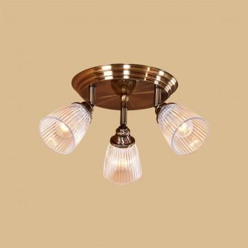 Потолочная люстра с регулировкой направления света Citilux Виндзор CL539631, 3xE14x60W, бронза, белый, металл, стекло - миниатюра 2