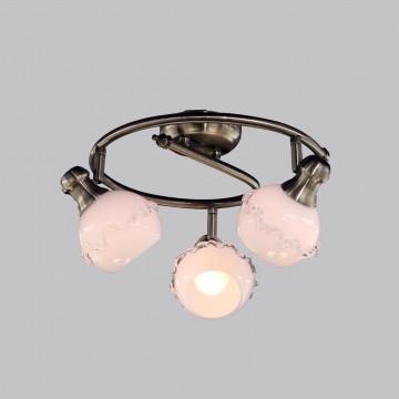 Потолочная люстра с регулировкой направления света Citilux Кампана CL540531, 3xE14x60W, бронза, белый, металл, стекло - миниатюра 2