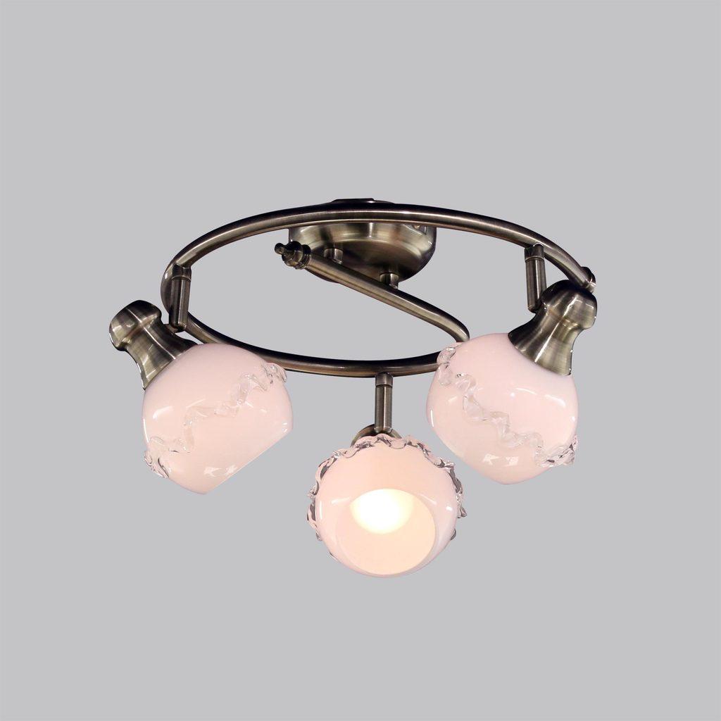 Потолочная люстра с регулировкой направления света Citilux Кампана CL540531, 3xE14x60W, бронза, белый, металл, стекло - фото 2
