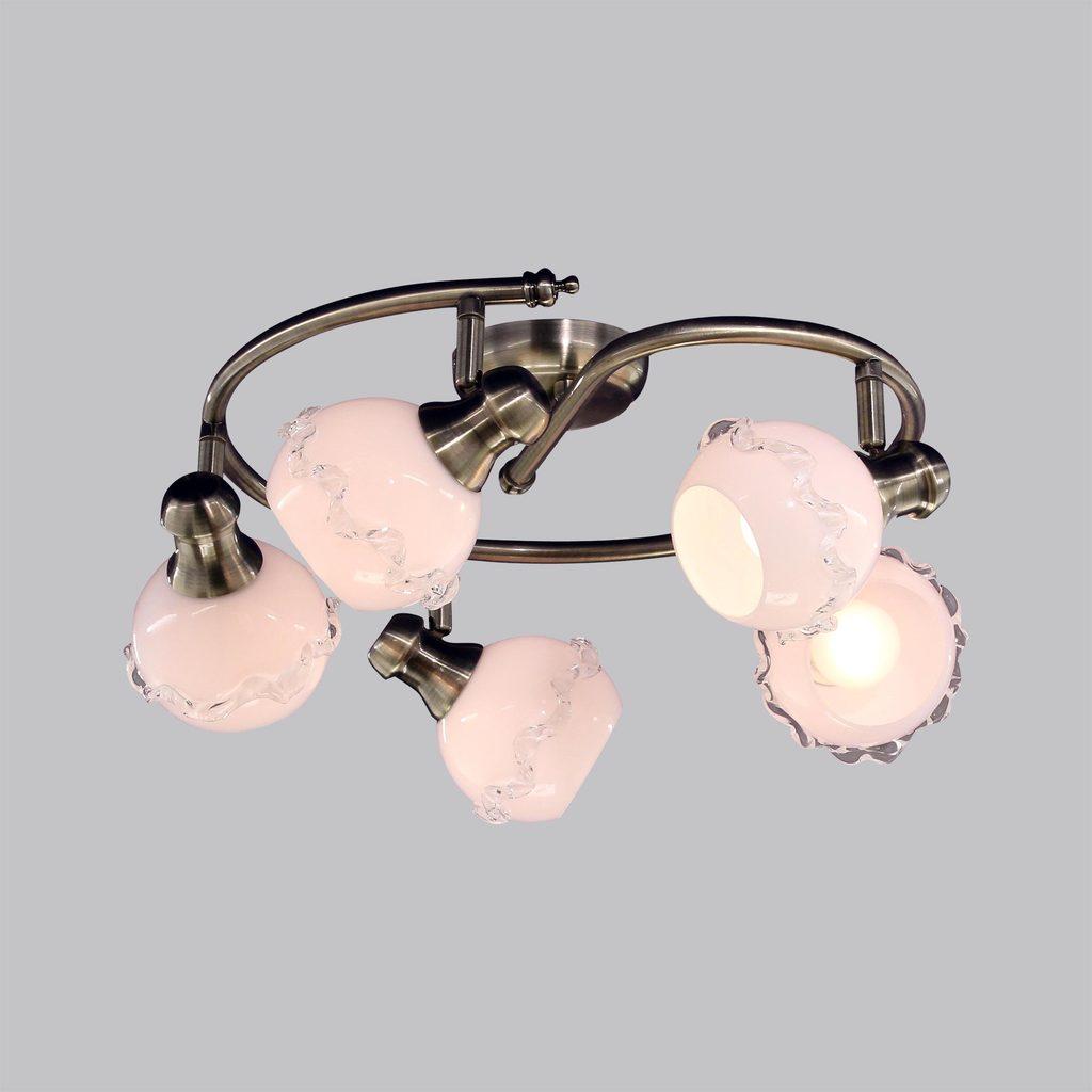 Потолочная люстра с регулировкой направления света Citilux Кампана CL540551, 5xE14x60W, бронза, белый, металл, стекло - фото 2