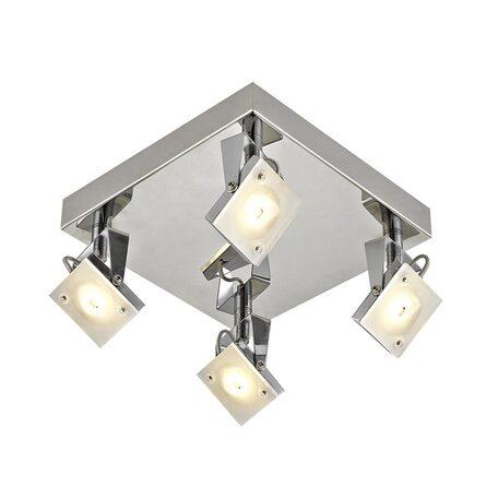 Потолочная светодиодная люстра с регулировкой направления света Citilux Кода CL551541 3000K (теплый), хром, белый, металл, стекло