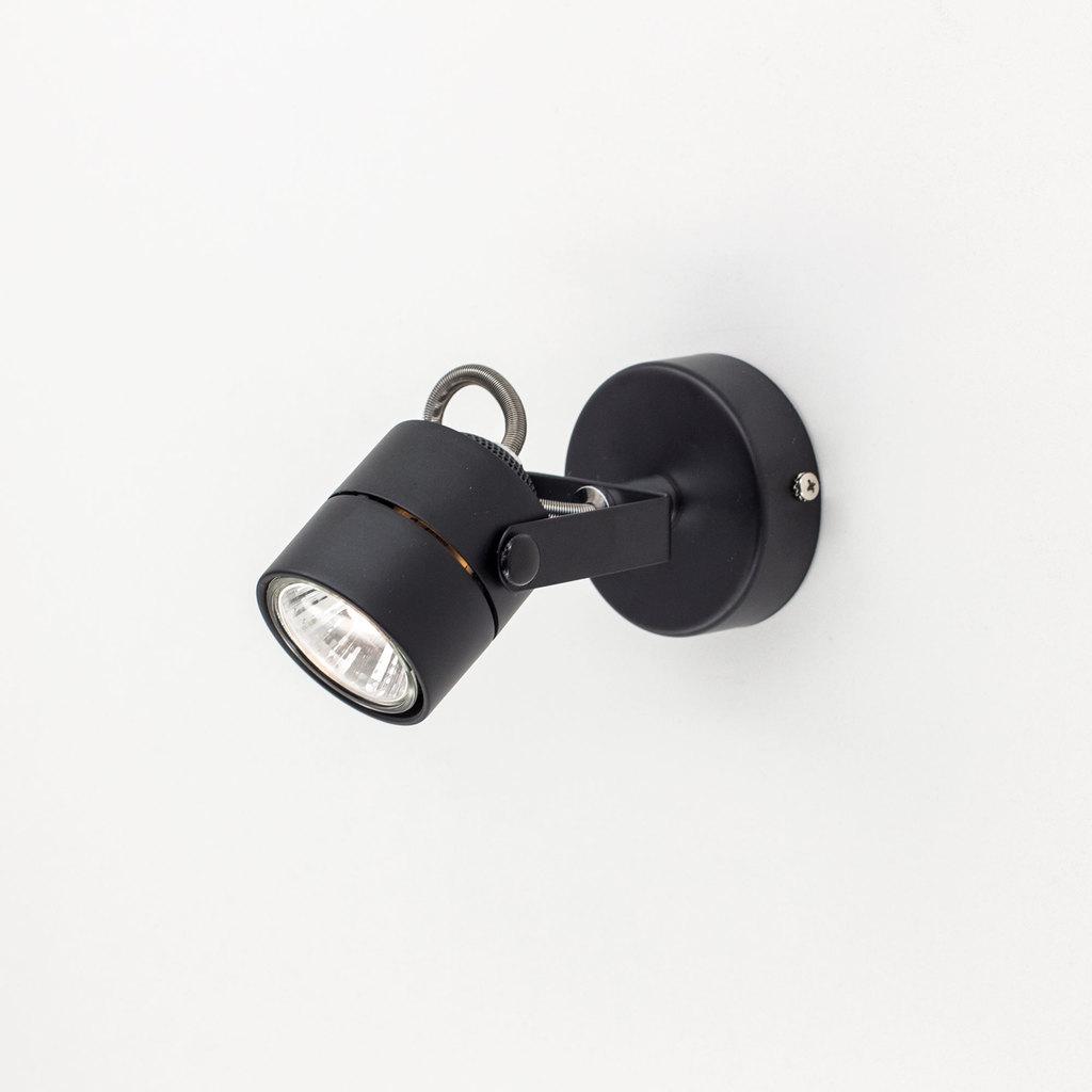 Настенный светильник с регулировкой направления света Citilux Ринг CL525512, 1xGU10x50W, черный, металл - фото 1