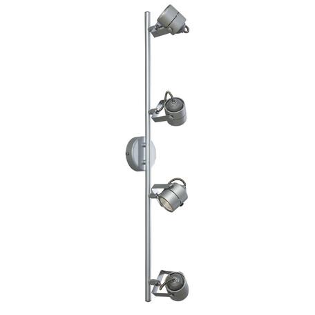 Настенный светильник с регулировкой направления света Citilux Ринг CL525541, 4xGU10x50W, серебро, металл