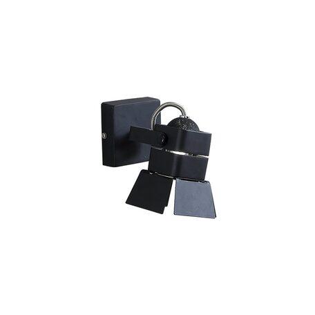 Потолочный светильник с регулировкой направления света Citilux Рубик CL526512S, 1xGU10x50W, черный, металл - миниатюра 1