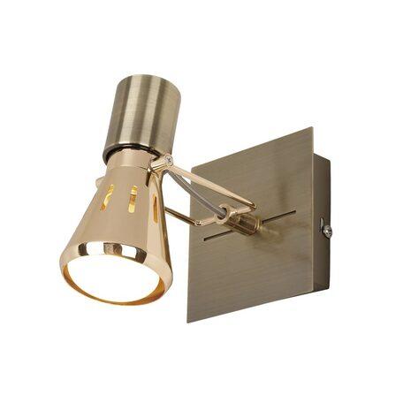 Настенный светильник с регулировкой направления света Citilux Марс CL527513, 1xE14x40W, бронза, золото, металл