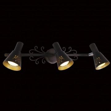 Настенный светильник с регулировкой направления света Citilux Дункан CL529531, 3xE14x60W, коричневый с золотой патиной, металл - миниатюра 2