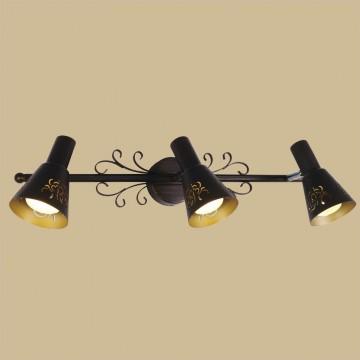 Настенный светильник с регулировкой направления света Citilux Дункан CL529531, 3xE14x60W, коричневый с золотой патиной, металл - миниатюра 3